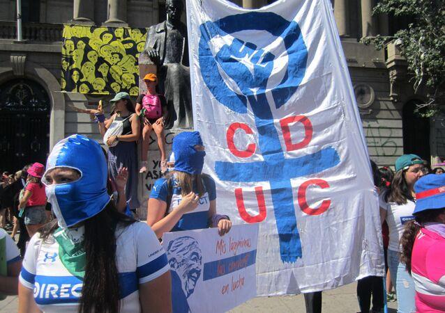 Marcha por el 8M en Santiago de Chile