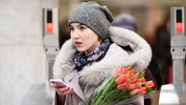 Celebración del 8 de marzo en Moscú - Sputnik Mundo