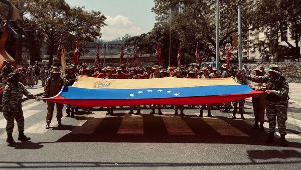 Milicianos y milicianas venezolanos en Caracas (archivo) - Sputnik Mundo