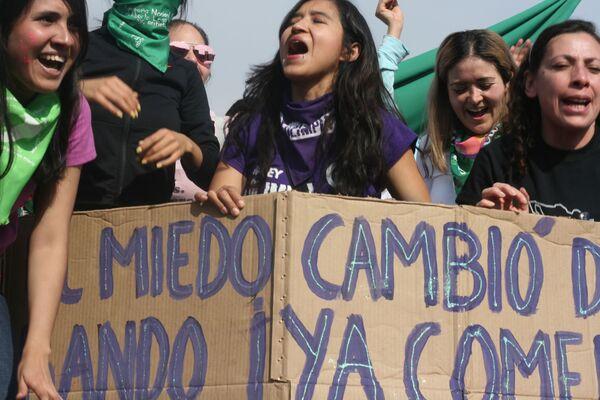 Así fue la megamarcha feminista en la Ciudad de México por el Día Internacional de la Mujer - Sputnik Mundo