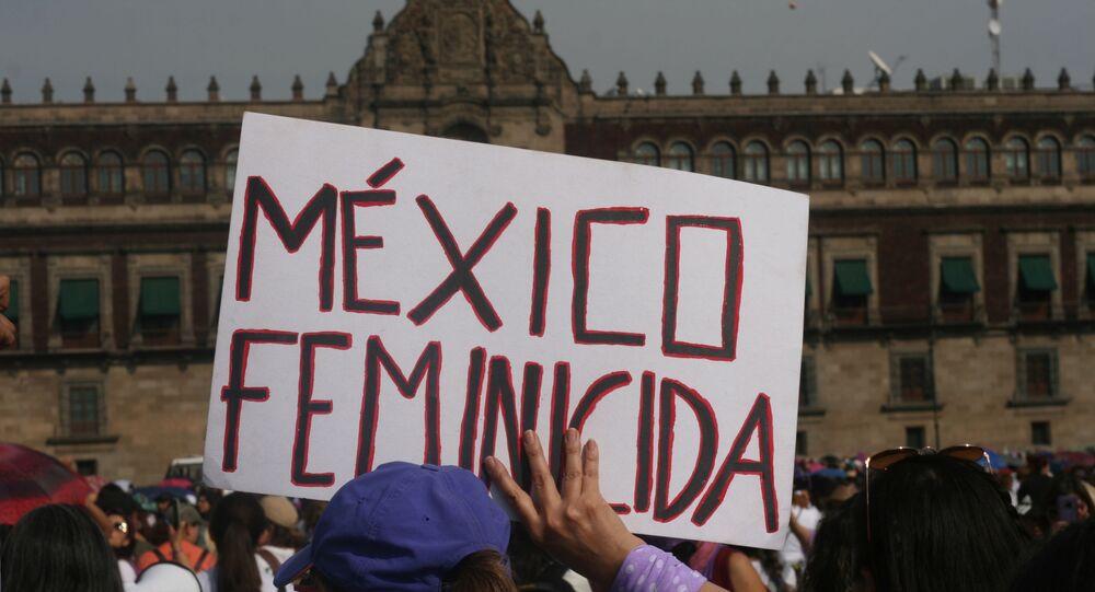 Megamarcha feminista en la Ciudad de México por el Día Internacional de la Mujer