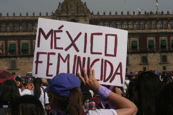 Megamarcha feminista en la Ciudad de México por el Día Internacional de la Mujer - Sputnik Mundo