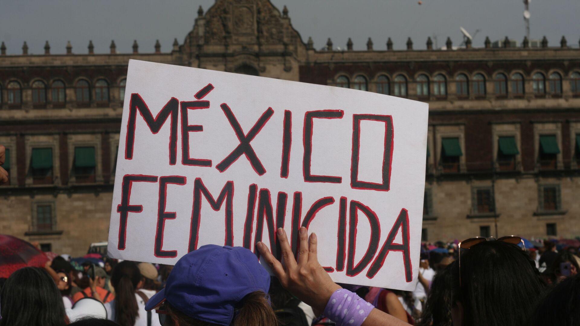 Megamarcha feminista en la Ciudad de México por el Día Internacional de la Mujer - Sputnik Mundo, 1920, 27.08.2021