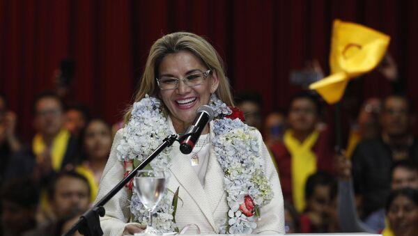 Jeanine Áñez, expresidenta de facto de Bolivia - Sputnik Mundo