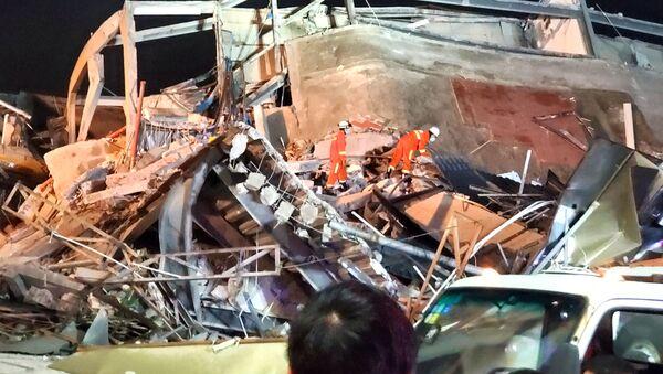 Hotel Xinjia, derrumbado en China el 7 de marzo de 2020 - Sputnik Mundo