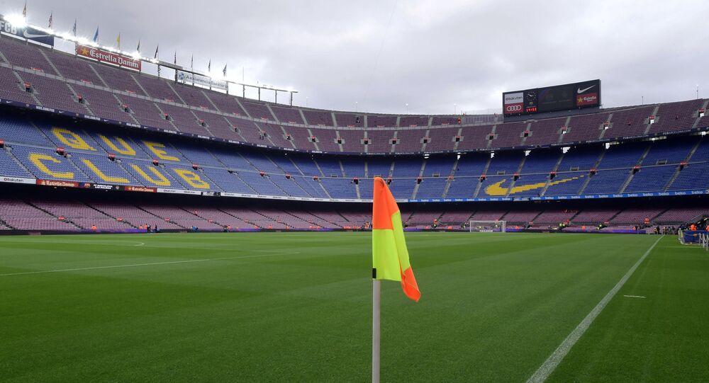 Estadio Camp Nou de Barcelona vacío
