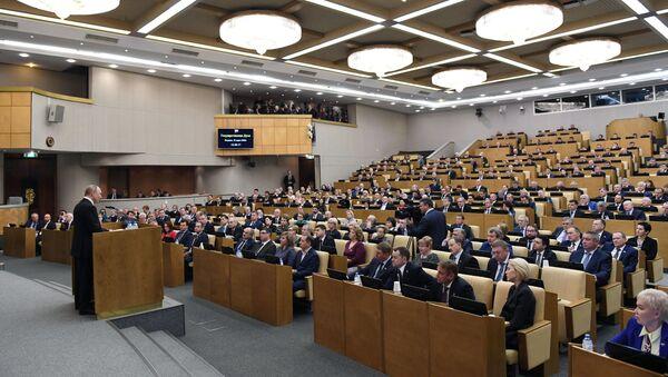 La sesión de la La Duma de Estado de Rusia - Sputnik Mundo
