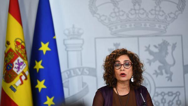 María Jesús Montero, ministra de Hacienda y portavoz del Gobierno español - Sputnik Mundo