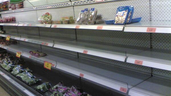 Estantes vacíos en el supermercado de Mercadona - Sputnik Mundo