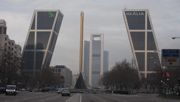 Vista del área de negocios de Madrid  - Sputnik Mundo