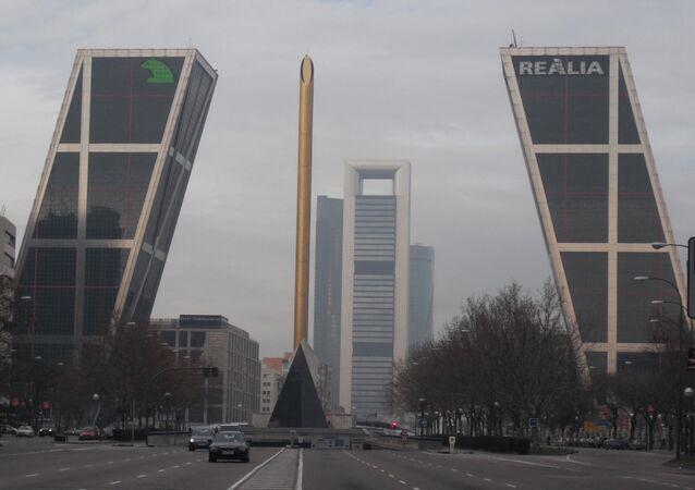 Vista del área de negocios de Madrid