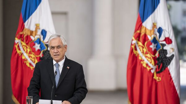 El presidente chileno Sebastián Piñera - Sputnik Mundo