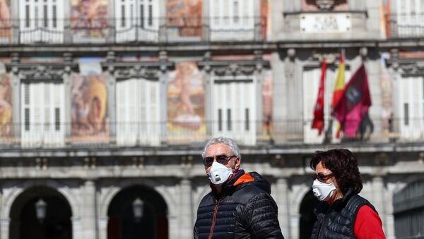 Turistas en Madrid, España - Sputnik Mundo
