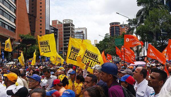 Movilización opositora en Caracas, Venezuela - Sputnik Mundo