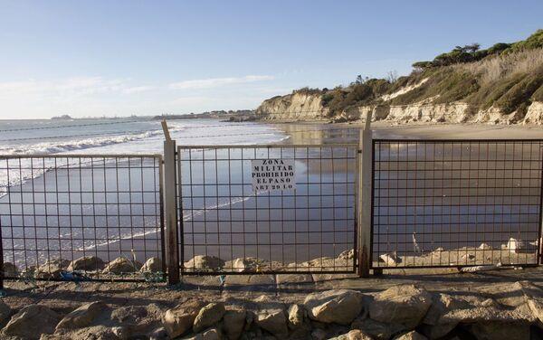 Acceso prohibido a las playas del interior de la base militar de Rota (Cádiz) - Sputnik Mundo