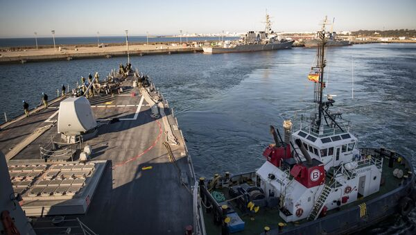 Destructor USS Donald Cook en la Base Naval de Rota, Andalucía (archivo) - Sputnik Mundo