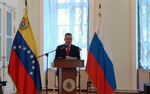 Embajador Carlos Faría - Sputnik Mundo
