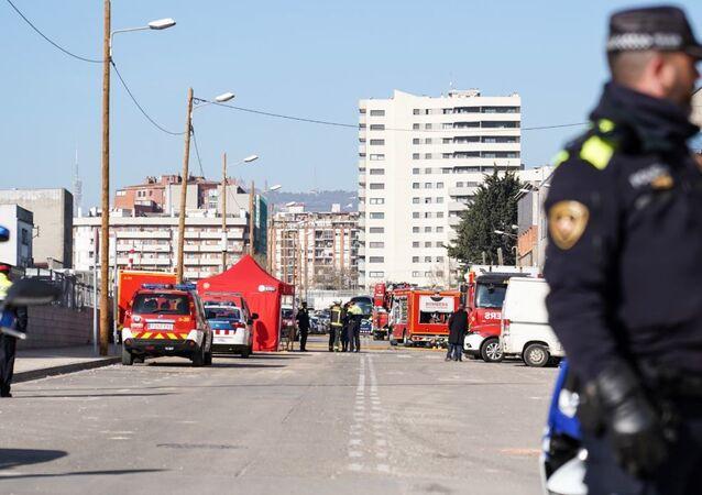 La situación en el lugar de la explosión cerca de la planta química en Barcelona