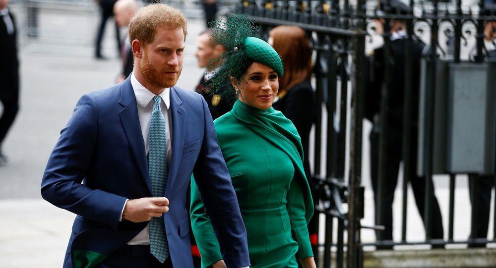 El príncipe Harry y Meghan Markle asisten al Día de la Commonwealth