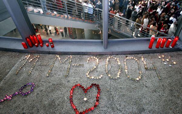 Homenaje a las víctimas del atentando del 11-M en la estación de Atocha - Sputnik Mundo
