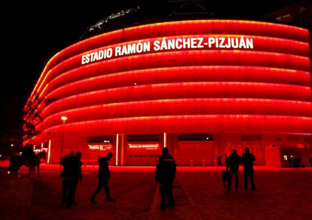 El estadio de Ramón Sánchez Pizjuán en Sevilla, donde se tenía que jugar la final de la Copa del Rey
