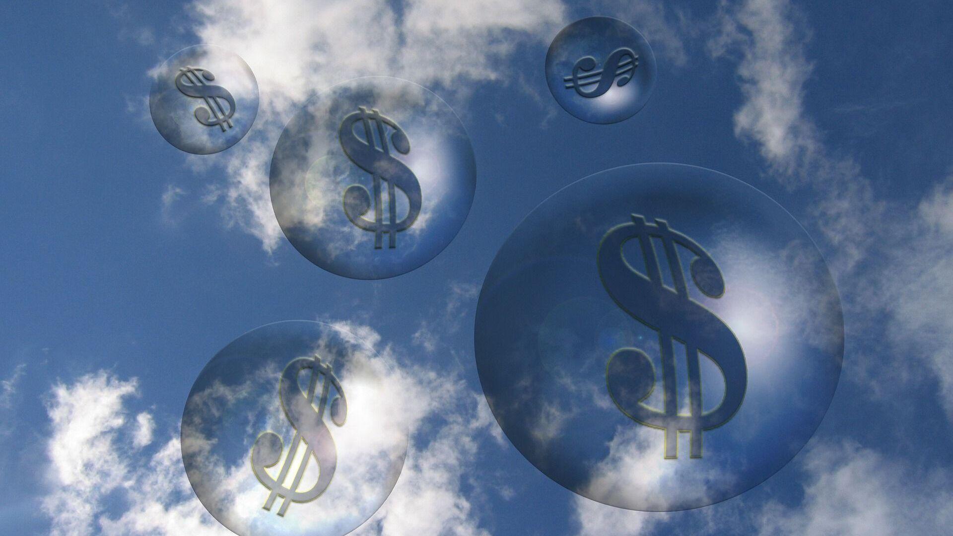 Burbujas con signos de dólar - Sputnik Mundo, 1920, 05.04.2021