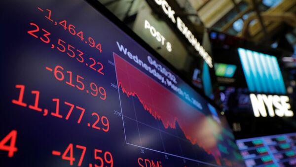 Bolsa de Nueva York, EEUU - Sputnik Mundo