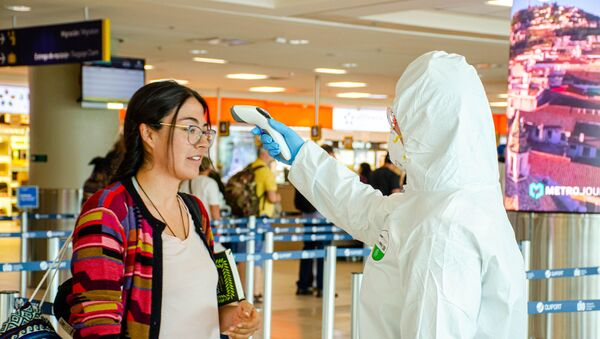 Situación en el aeropuerto de Quito, Ecuador - Sputnik Mundo
