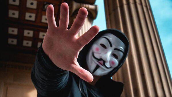Hombre en la máscara (imagen referencial) - Sputnik Mundo