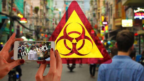 Símbolo internacional de riesgo biológico (imagen referencial) - Sputnik Mundo