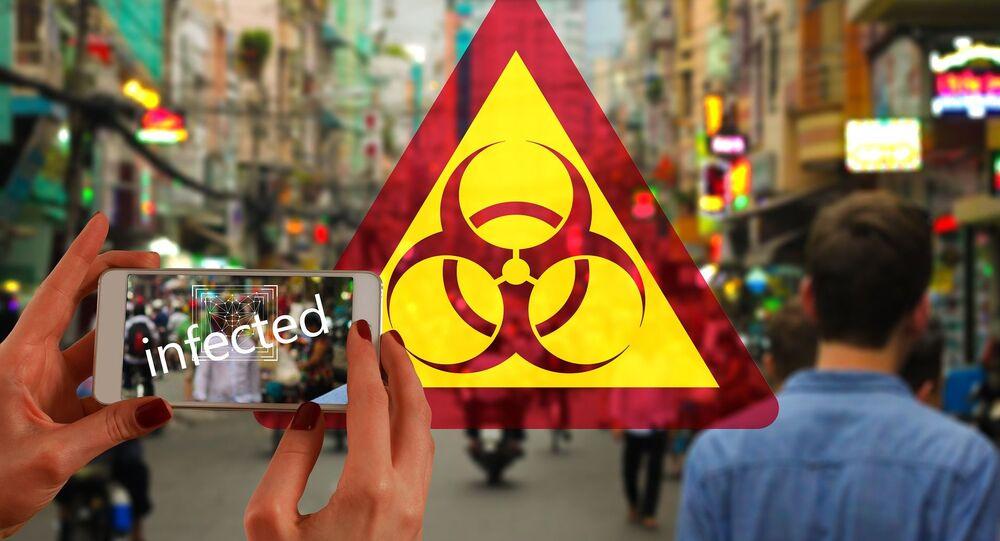 Símbolo internacional de riesgo biológico (imagen referencial)