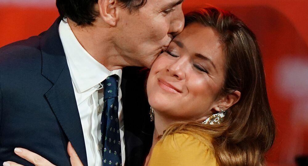El primer ministro de Canadá, Justin Trudeau y su esposa, Sophie Gregoire