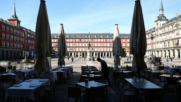 La Plaza mayor de Madrid, España - Sputnik Mundo