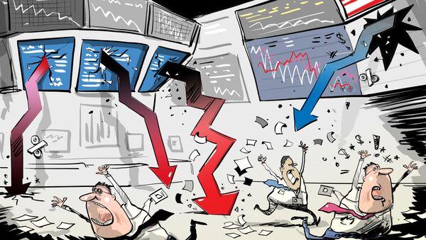 La bolsa de EEUU cierra con una caída récord desde 1987 - Sputnik Mundo