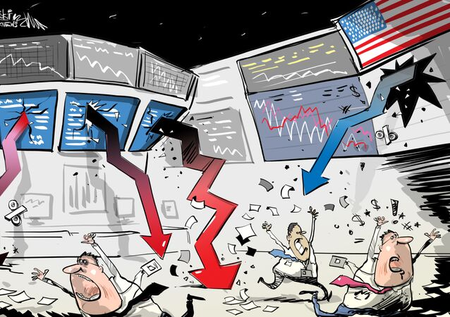 La bolsa de EEUU cierra con una caída récord desde 1987