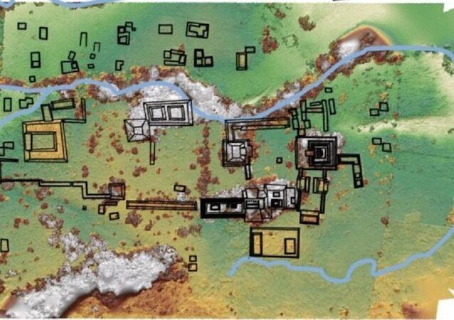Mapa del lugar de excavaciones