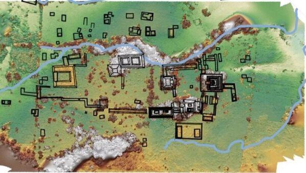 Mapa del lugar de excavaciones - Sputnik Mundo