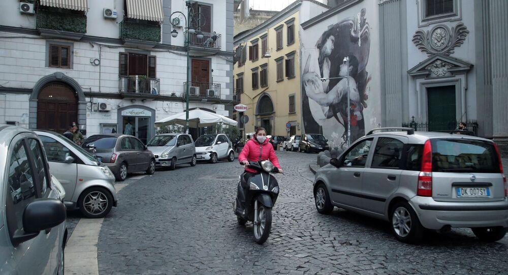 Situación en Nápoles, Italia
