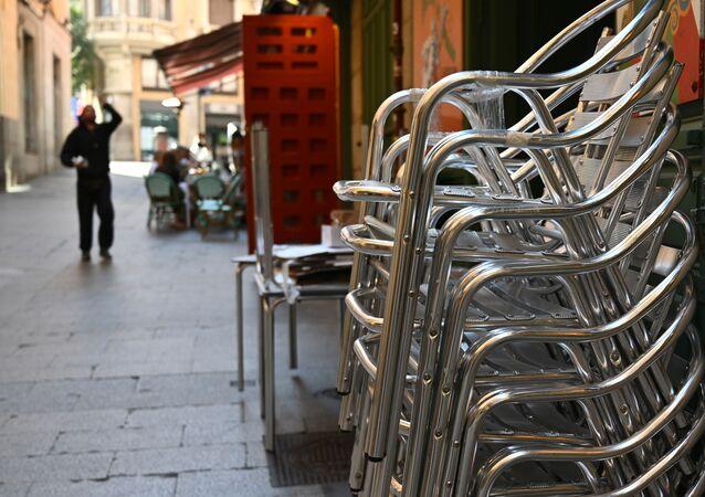 Terraza cerrada en el centro de Madrid