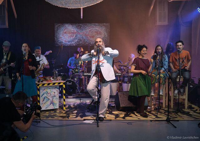 El grupo musical moscovita Defesa en concierto