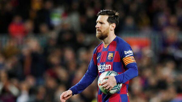 Lionel Messi, capitán del Barcelona - Sputnik Mundo