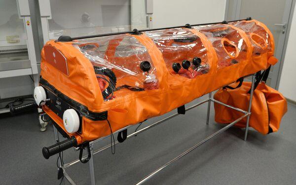 Una cápsula hermética para personas contagiadas del COVID-19 - Sputnik Mundo