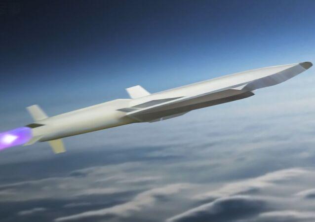 Imágen referencial de un misil hipersónico