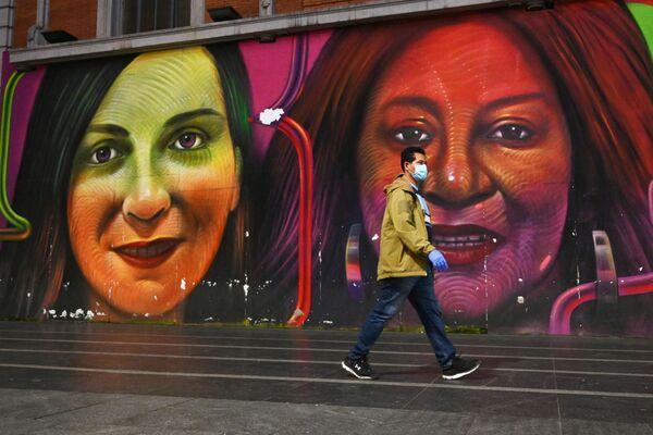 Calles y supermercados vacíos: el COVID-19 azota Madrid - Sputnik Mundo