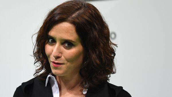 Isabel Díaz Ayuso, presidenta de la Comunidad de Madrid - Sputnik Mundo