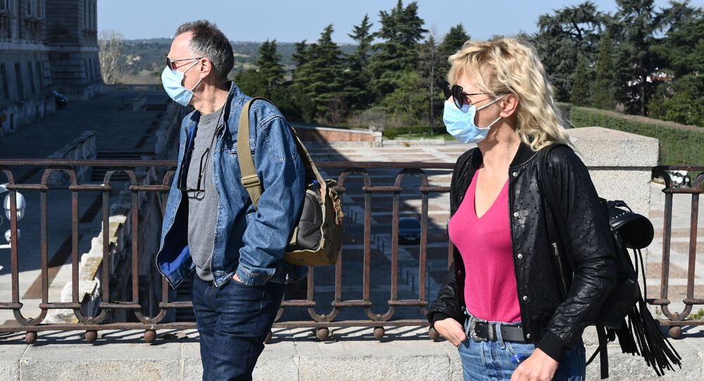 Turistas en Madrid, España