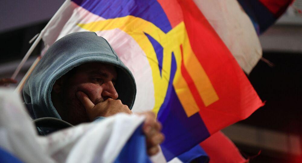 Un simpatizante del Frente Amplio de Uruguay