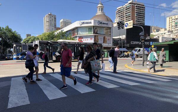 Las calles de Buenos Aires no sintieron el impacto de los anuncios  - Sputnik Mundo