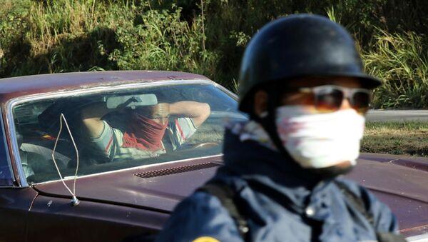 Un punto de control en el marco de la cuarentena declarada en Venezuela - Sputnik Mundo