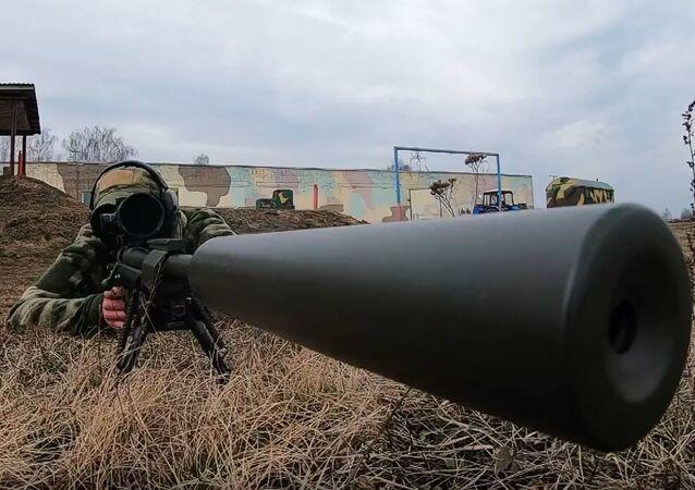 Entrenamiento de francotiradores bielorrusos